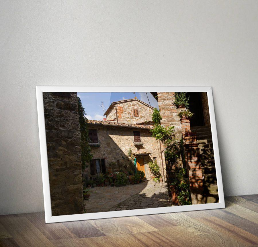 Toscane straatje - Italie Wanddecoratie