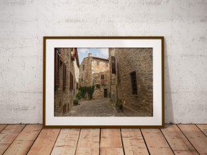 Middeleeuws Toscaans Dorp - Architectuur Wanddecoratie