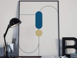 Abstract Geometry Poster - Abstracte Wanddecoratie