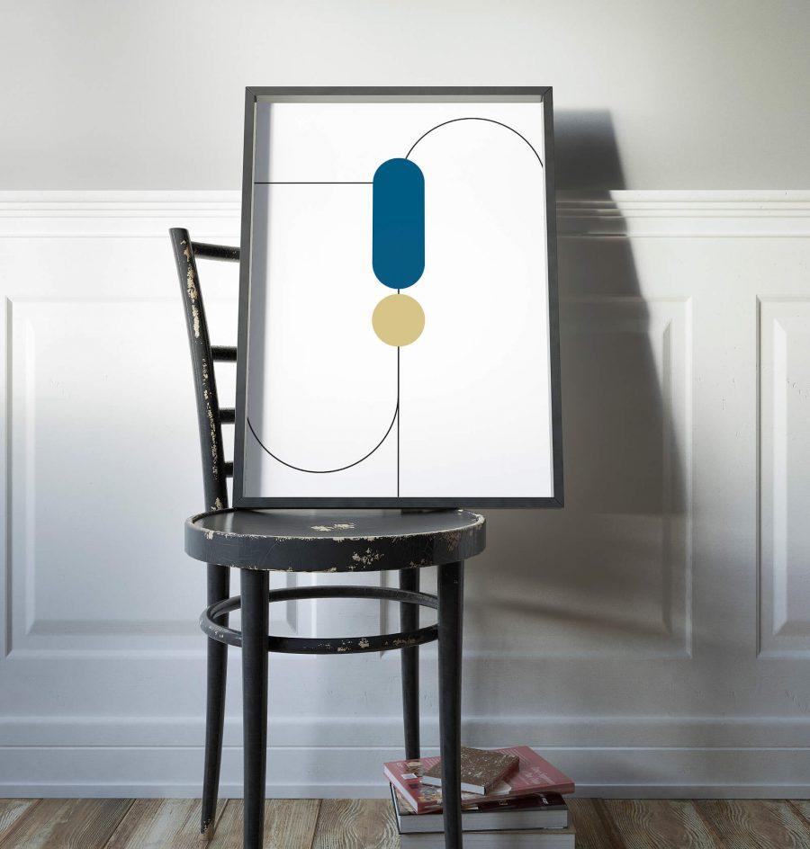 Abstracte Geometrie Poster - Geometrische Wanddecoratie