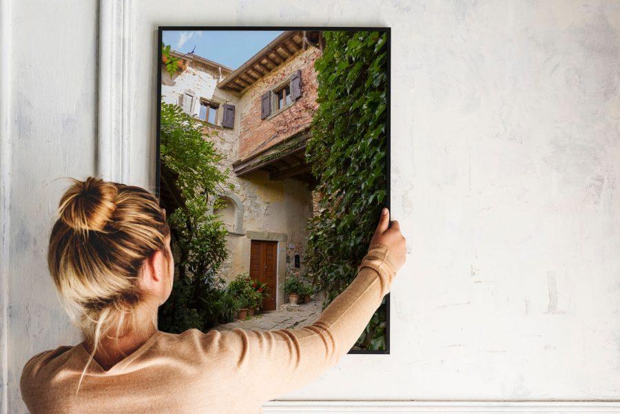 Italiaans straatje poster - Toscane Wanddecoratie