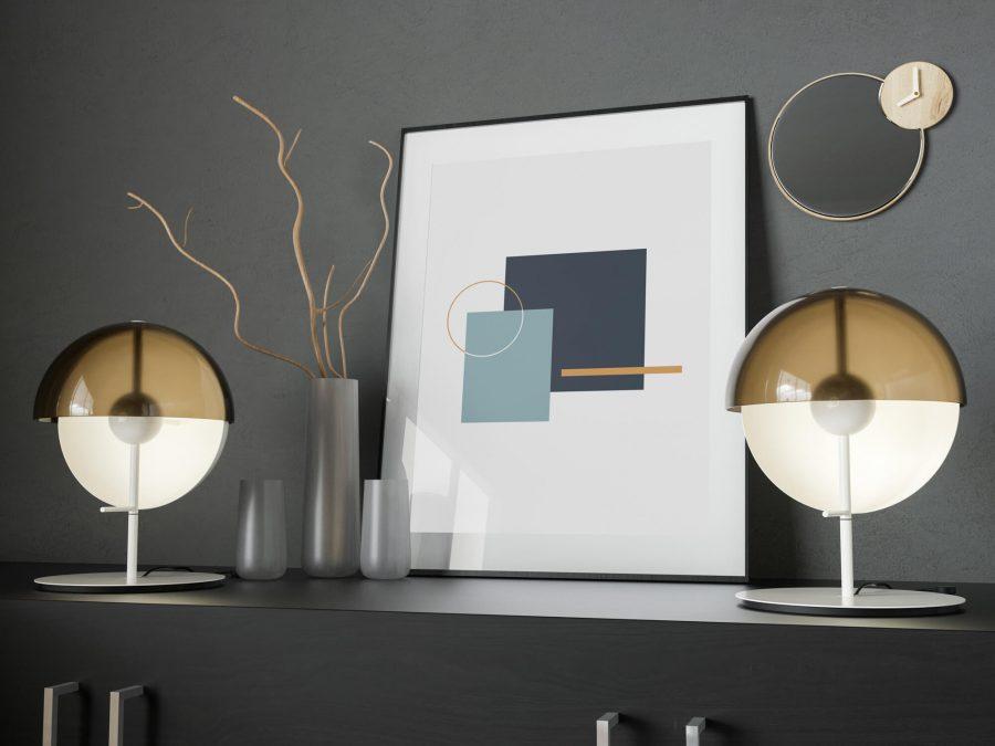 Minimalistische Geometrische Poster - Geometrische Wanddecoratie