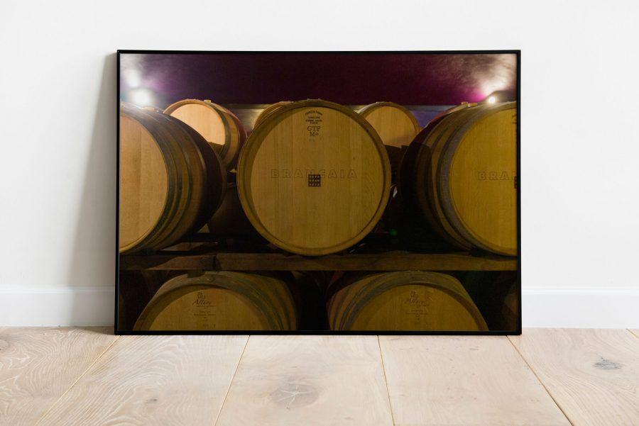 Toscane wijnvaten poster