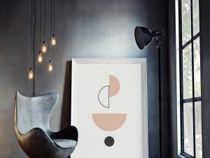 abstract balance poster - geometrische wanddecoratie