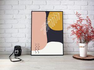 Abstracte Botanische Poster - Botanische Wanddecoratie