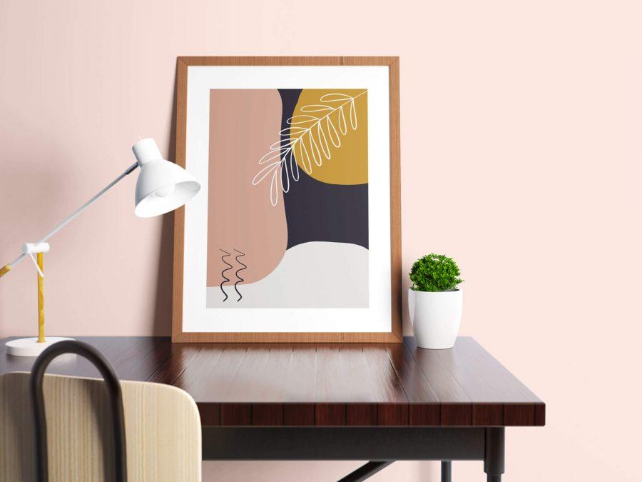 Abstracte Botanische Poster - Abstracte Wanddecoratie