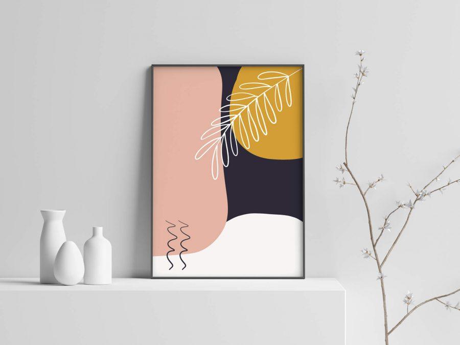 Abstracte Botanische Poster
