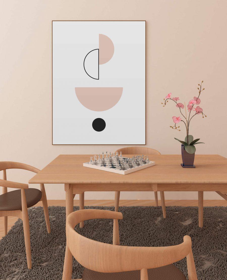 abstracte geometrische poster