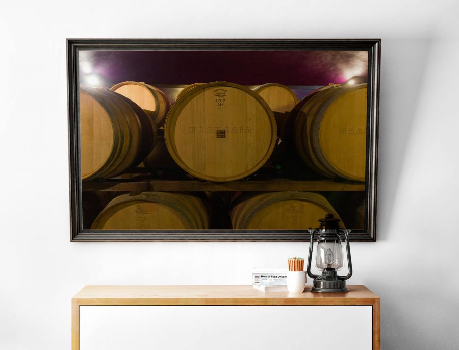wijnvaten Toscane poster