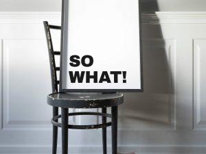 So What Tekst Poster - Typografie Wanddecoratie