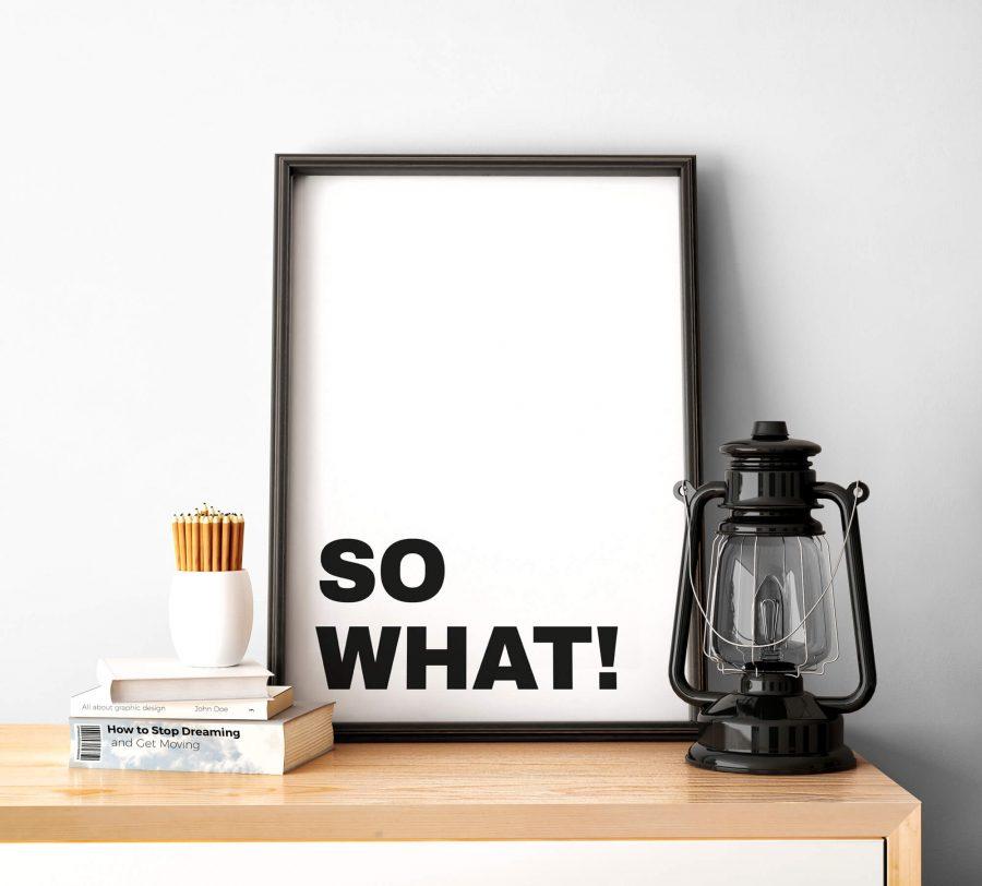 Tekst Poster - Typografie Wanddecoratie