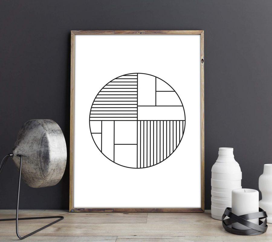 Geometrische Cirkel Scandinavische Poster