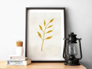Gold Leaf Botanische Poster