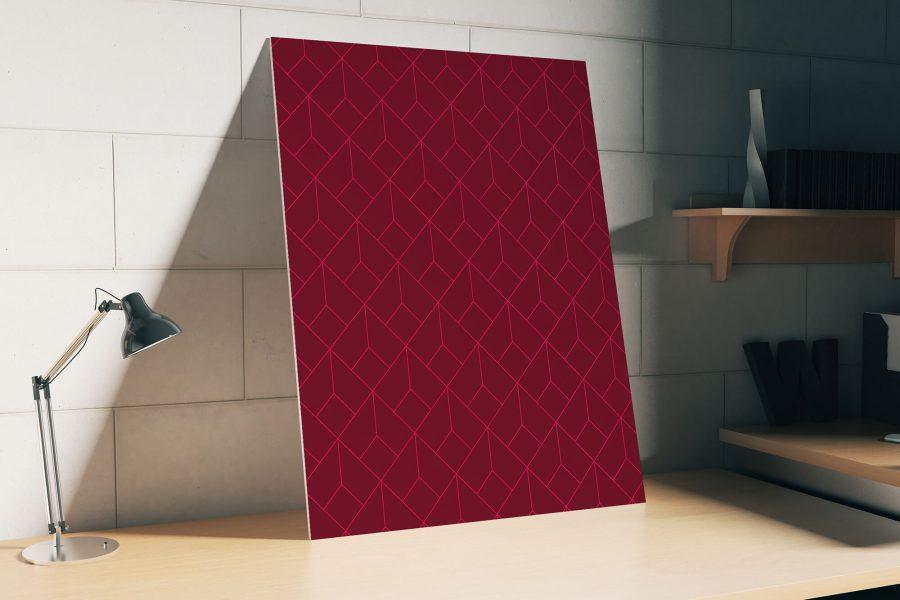 Rood Geometrisch Patroon Poster
