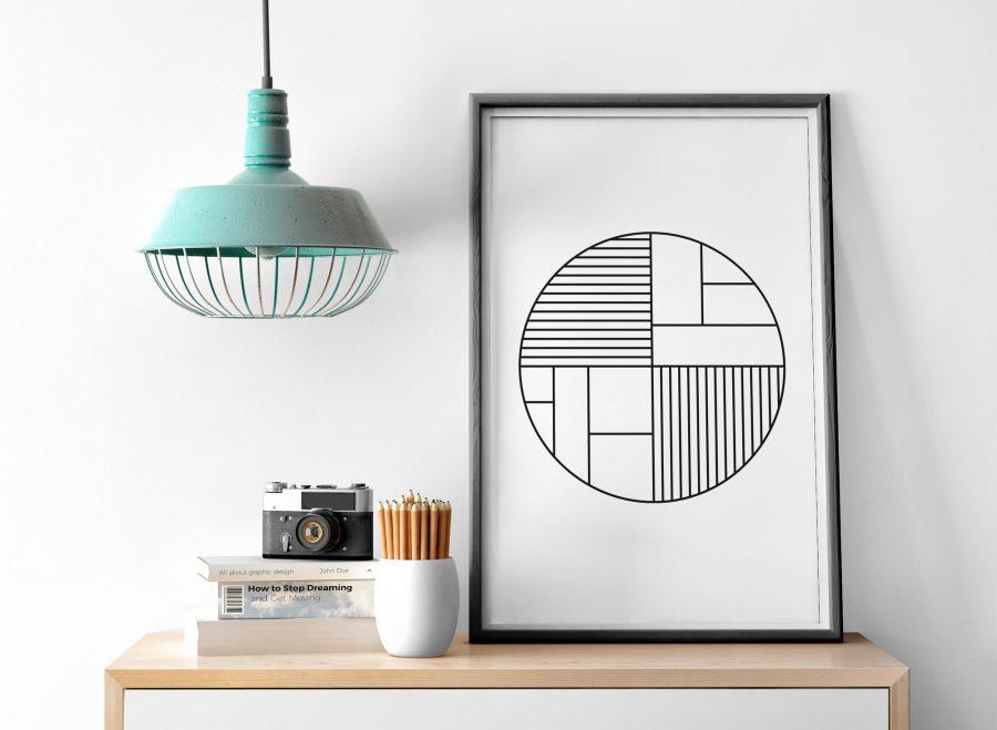Scandinavische Geometrische Poster