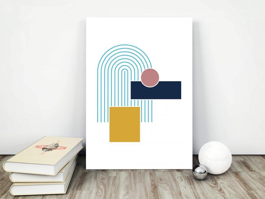 Voorjaar Poster met frisse kleuren - Geometrische Poster