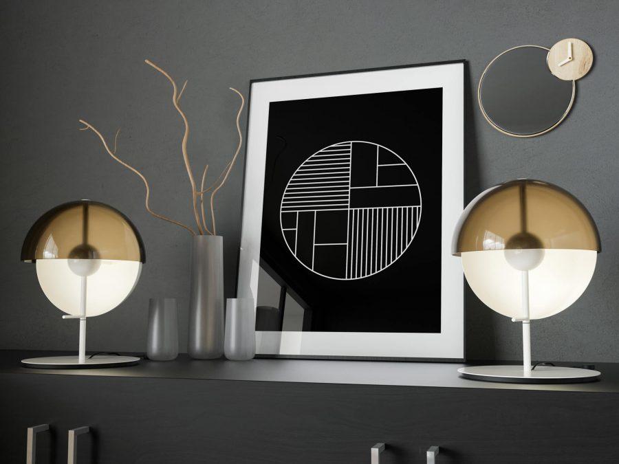 Zwarte Geometrische Poster