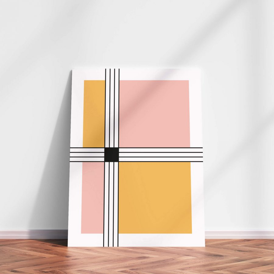 stripes and squares Geometrische poster