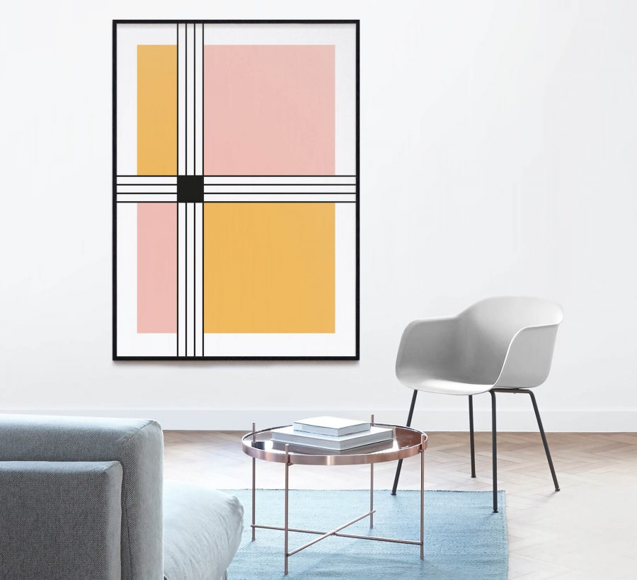 stripes and squares - Scandinavische Wanddecoratie