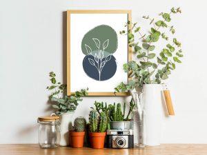 Abstracte Floral Poster - Botanische Wanddecoratie