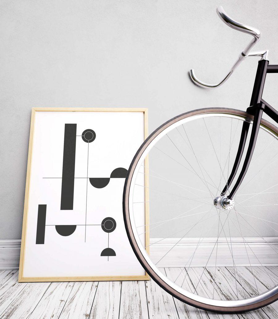 Zwart Wit Geometrie Poster