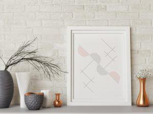 Abstracte Geometrische Compositie Poster