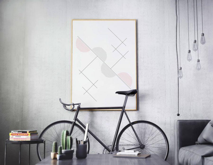Abstracte Geometrische Compositie Poster - Abstracte Wanddecoratie