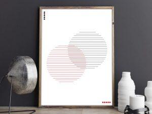 Abstracte, Minimalistische Cirkels - Abstracte Wanddecoratie