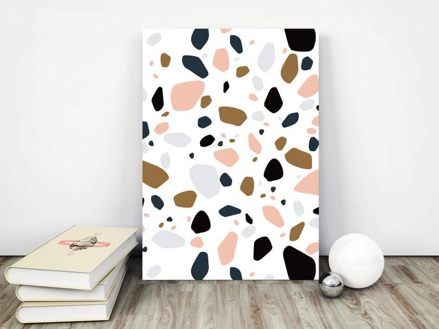 Abstracte Poster met terrazzo patroon