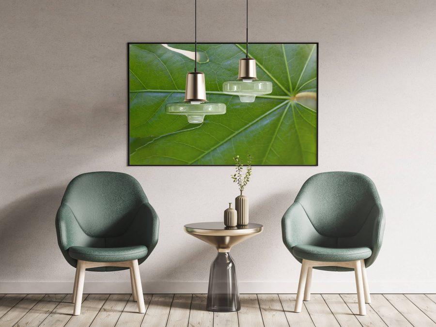 Groen blad met nerven poster - Botanische Poster