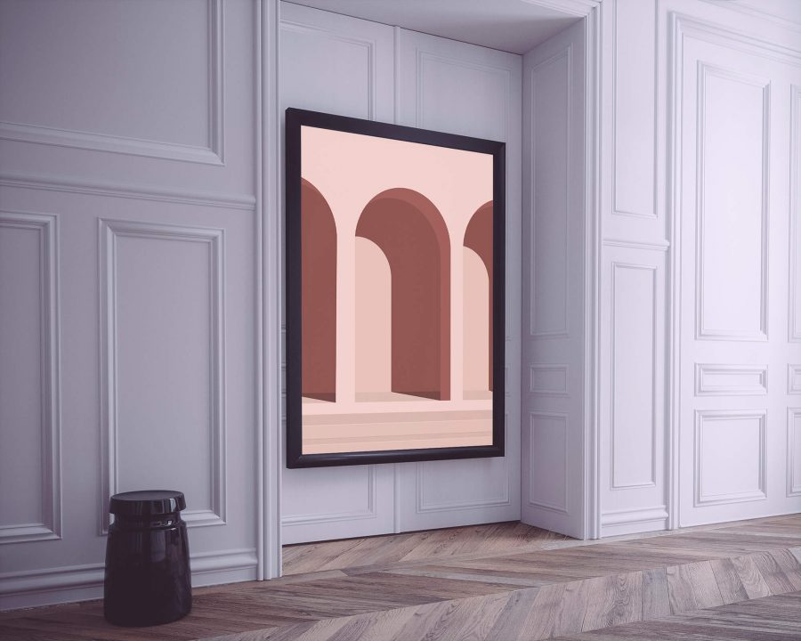 Pink Architecture - Abstracte Wanddecoratie