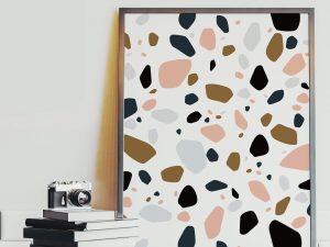 Terrazzo Patroon No. 2 - Abstracte Poster Kopen