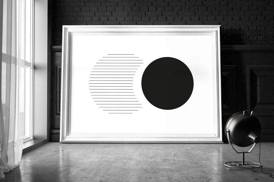 Zwart-wit Geometrische Poster