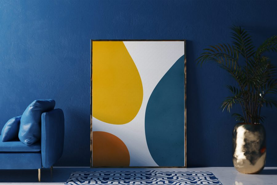 Abstracte Organische Vormen Poster - Minimalistische Wanddecoratie
