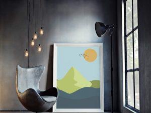 Abstracte Poster met Landschap
