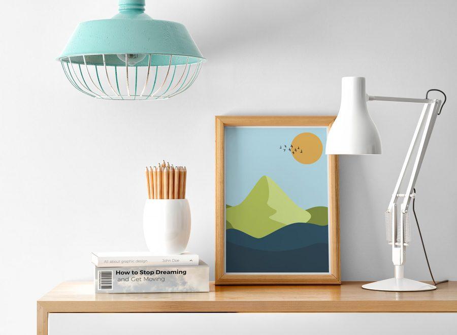 Abstracte Wanddecoratie - Landschap Poster