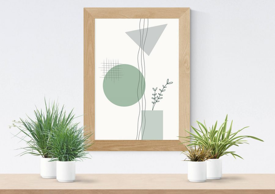 Geometrische Botanische Poster