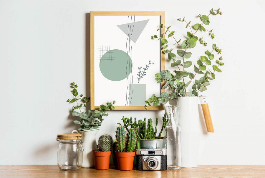 Geometrische Botanische Poster - Abstracte Wanddecoratie
