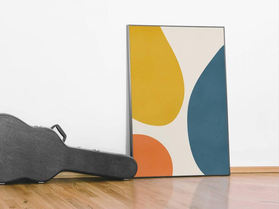 Minimalistische Abstracte Vormen Poster - Abstracte Wanddecoratie