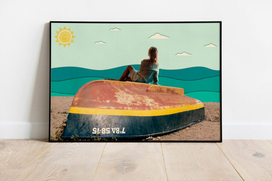 A Day At The Beach - Surrealistische Poster