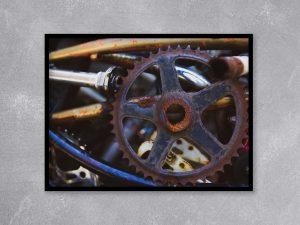 Fiets onderdelen Industriële poster