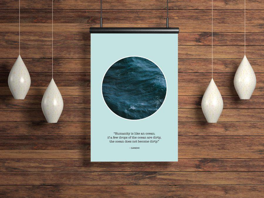 Minimalistische Poster met inspirerende quote