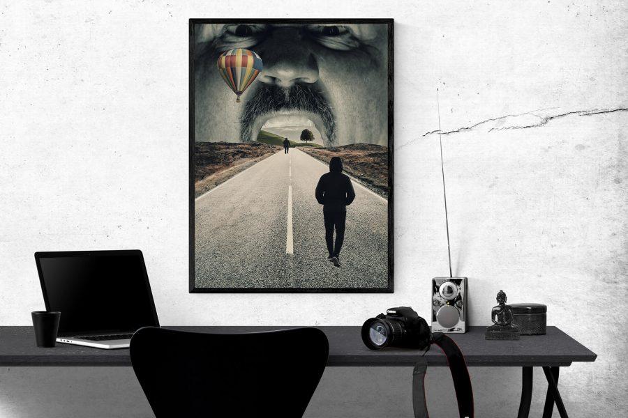 Surrealisme poster - collage