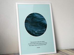 Zee Poster met Quote van Gandhi - Minimalistische Poster