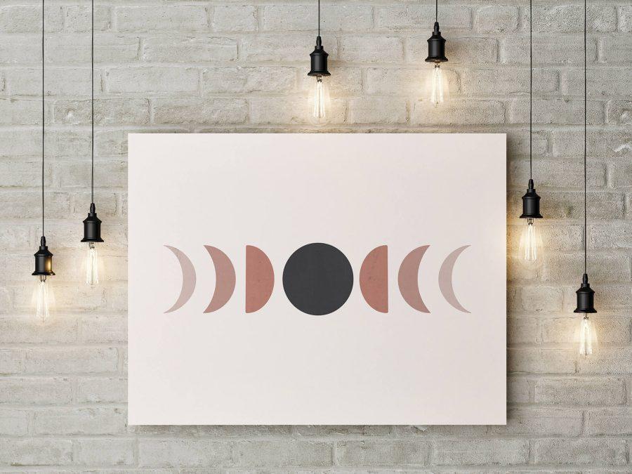 moderne poster en print met maan fasen
