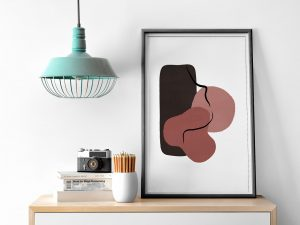 Abstracte poster en canvas print