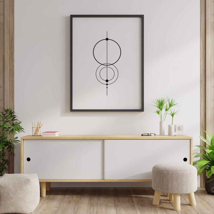 Geometrische poster en print met cirkels