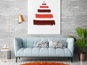 Kerstboom Brush strokes poster en print
