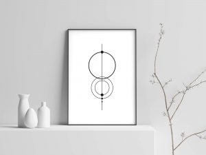 Minimalist Circles - Minimalistische Poster en Print