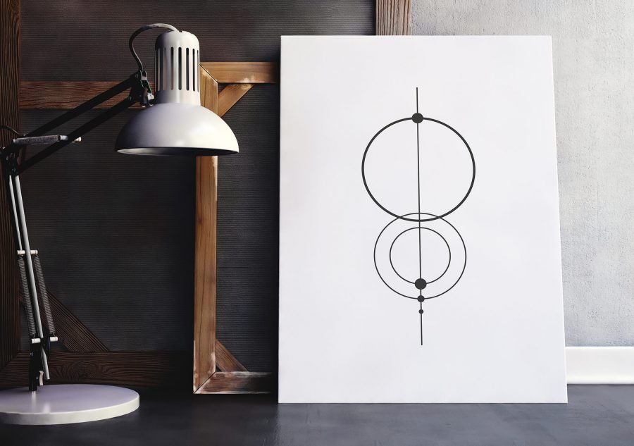 Minimalistische Canvas Print met cirkels